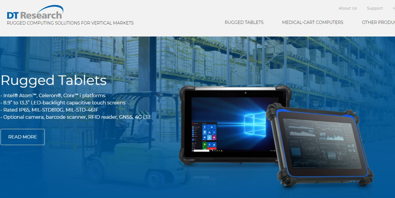 DT Research Introduces First Purpose-built Rugged Tablet