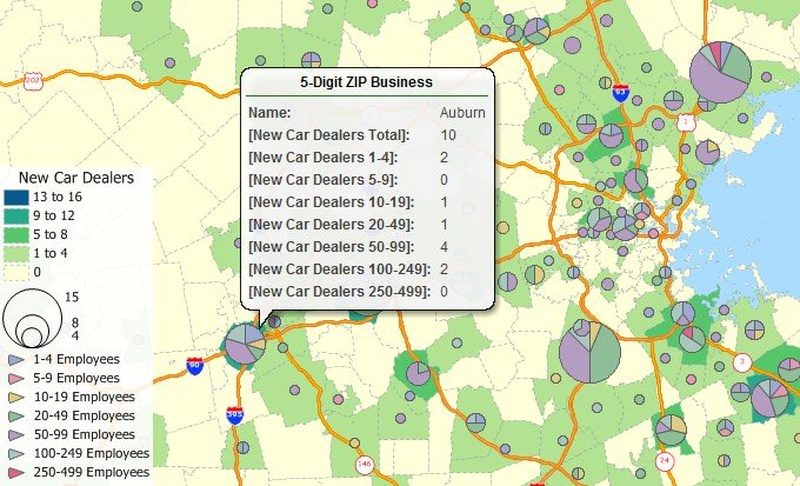 Free Zip Code Business Counts Data For Maptitude 2018 Mapping Software